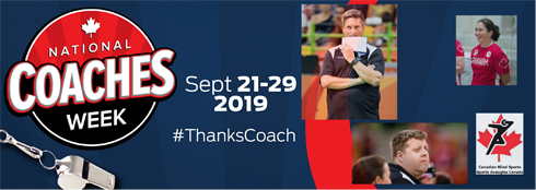 National Coaches Week Sept 21-29, 2019