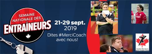 Semaine nationale des entraîneurs 21-29 sept. 2019